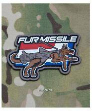 Morale Patch - Milspec Monkey - FUR MISSLE K9 Dog - PVC - Full Color