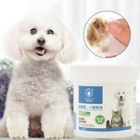 120pcs Pet Hygiene Wipes Hund sauber Ohr Pfote Körper sanfte Reinigungstücher F