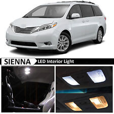White Interior LED Lights Replacement Package Kit for 2011-2015 Toyota Sienna
