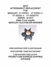NEW 47-89984 AFTERMARKET REPLACEMENT Water Pump Impeller MERCURY QUICKSILVER