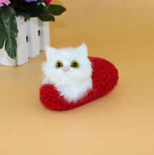 Car Dashboard Toy Doll Decoration Cute Sleep Cat Slipper Kitten Soft Plush Doll