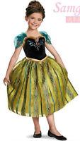Frozen Verde Nera Anna Vestito Da Festa Fancy dress Costume bambini Abito sera