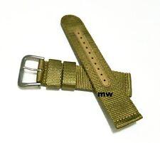 Genuine 22mm Seiko Strap Model 4A214JL Beige Nylon Strap Band Watch Model SNZG07