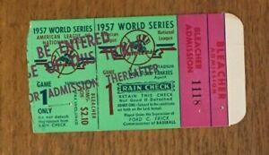 1957 World Series game 1 ticket Yankees v Braves Whitey Ford W