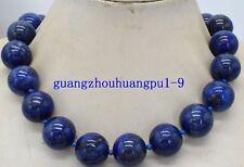 "Hot 16mm Egyptian Lapis Lazuli Dark Blue Round Bead Gemstones necklace 20 ""AAA"