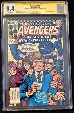 Avengers #239 (1984) CGC 9.4 signed Joe Sinnott - Al Milgrom David Letterman