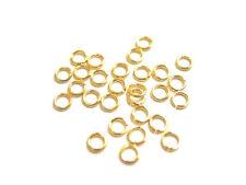 100 Gold Plated Open 4MM Jump Rings 20 Gauge Jumprings