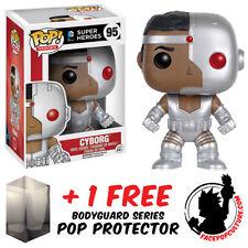 FUNKO POP DC COMICS CLASSIC CYBORG VINYL FIGURE + FREE POP PROTECTOR