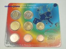 *** EURO KMS SPANIEN 2002 BU Stempelglanz Spain Kursmünzensatz Coin Set ***
