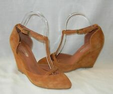 Jeffrey Campbell Women's Eyes On You Suede Wedge Heels Retail $148 size 7