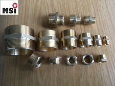 "Doppelnippel ab 0,60€ Messing Fittings Gewindefitting IG AG reduziert 1/8"" - 2"""