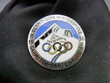 alte Brosche Olympische Winterspiele Garmisch-Partenkirchen 1936 Emaille