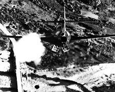 New 8x10 Korea War - Conflict Photo: Rocketing and Bombing Korean Bridge, 1952