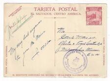 1929 San Salvador, Postal Card to Milwaukee Wisconsin