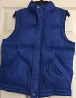 Gap Kids Size M Blue Winter Vest With Zip and Snap Closure
