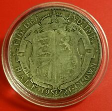 1921 XF Half Crown George V British Silver Coin de protection Capsule