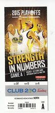 2015 GOLDEN STATE WARRIORS VS NO PELICANS PLAYOFFS GAME #1 TICKET STUB CURRY