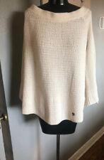 Abercrombie Bellsleeve Off Shoulder Sweater Cream Large L NWT's FALL BOHO