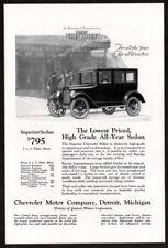 1924 CHEVROLET Superior Sedan Antique Vintage Original Print AD For all weather