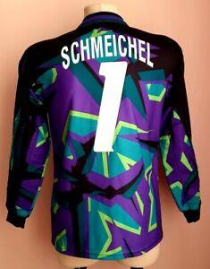 Denmark1994 - 1996 Goalkeeper Hummel football long sleeve jersey #1 SCHMEICHEL