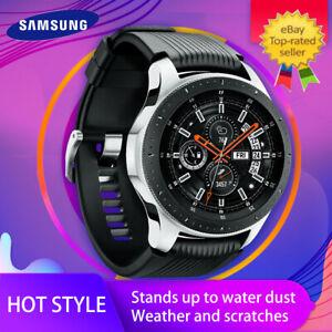 Samsung Galaxy Watch SM-R800 46mm Silver Case Classic Onyx Black Bluetooth