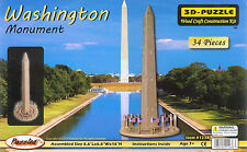 3-D Wooden Puzzle Washington Monument (Wood Craft Puzzled #1238) Ages 7+