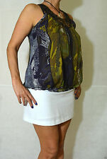 Silk Scoop Neck Formal Sleeveless Tops & Shirts for Women