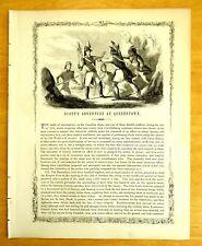 1856 Print LT. COL. SCOTT'S ADVENTURE BATTLE OF QUEENSTOWN CANADA War of 1812