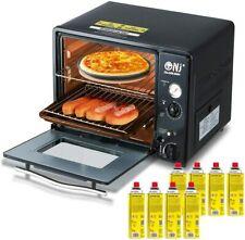 Portable Mini Gas Backofen 30 Liter, Camping Grill 1.3kW Timer + 8 Gaskartuschen
