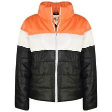 Niño Niña Jacket de Diseñador Contraste Paneles Capucha Guateado Relleno Abrigo