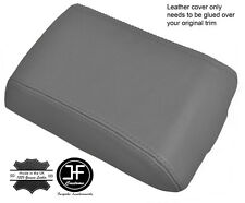GREY REAL LEATHER ARMREST COVER FITS LAND ROVER DISCOVERY TD5 300 TDI 96-04