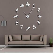 Equestrians DIY Large Wall Clock Cowboys Horse Riding Decor Giant  Wall Sticker