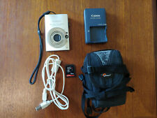 Used Canon PowerShot SD1100IS 8MP Silver Digital Camera 3x Zoom
