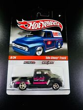 Hot Wheels Delivery 50's Chevy Truck Ed Pink Real Riders Black Primer