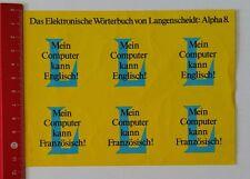 Aufkleber/Sticker: Wörterbuch Langenscheidt Alpha 8 - Englisch (160217141)