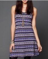 Free People Fairisle Fit And Flare Dress Cute Casual Women's Large L (E03)