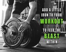 WEIGHT LIFTING WORKOUT TRAINING POSTER PRINT STYLE B 26x36 HI RES 9 MIL PAPER