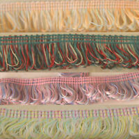 15mm Fringe Braid in Four Pink and Green Colours - FREE UK P&P