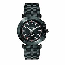 Versace VAH040016 Men's V-race Sport Swiss Quartz Stainless Steel Watch Black