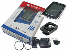 SIGMA BC16.16 STS Wireless Bike Computer Speedometer Bicycling Backlit ETA Time