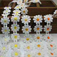 1 Yard Embroidered Daisy Flower Lace Trim Applique Headband Sewing Craft Great