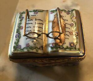 limoges france peint main Trinket Box