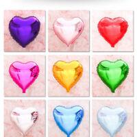 "5pc 18"" Love Heart Foil Helium Balloons Weddin Birthday Party Decor Wholesale hi"