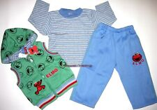 BNWT New Elmo 3pc hoodie top vest pants Tracksuit boys track suit size 1 outfit