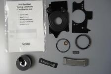 Rolleiflex 2.8 FX / GX spare parts nameplate, sidepanels, test certificate, etc
