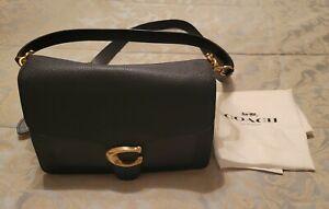 Genuine Authentic COACH Tabby Leather Crossbody Bag Midnight Navy Blue - EUC