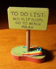 TO DO LIST RELAX Rainbow Sandal Beach Pool Tiki Bar Home Decor 2 Sided Sign NEW