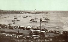 OLD DAINTY SERIES POSTCARD 1900's - SCARBOROUGH - VIEW FROM ST NICHOLAS GARDENS
