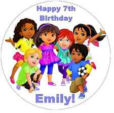 """Dora And Friends Into The City Personalised Cake Topper 7.5"""" Edible Wafer Paper"""