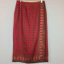 Bushwacker Maxi Wrap Skirt Womens 12 Paisley Plaid